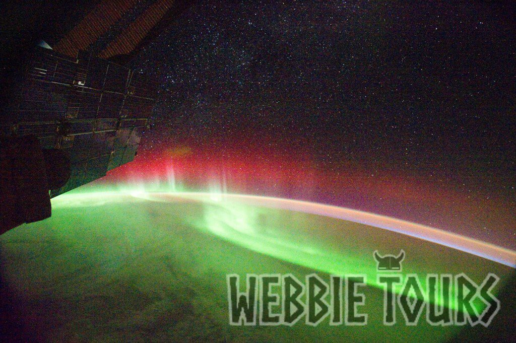 Aurora shown from NASA satellite